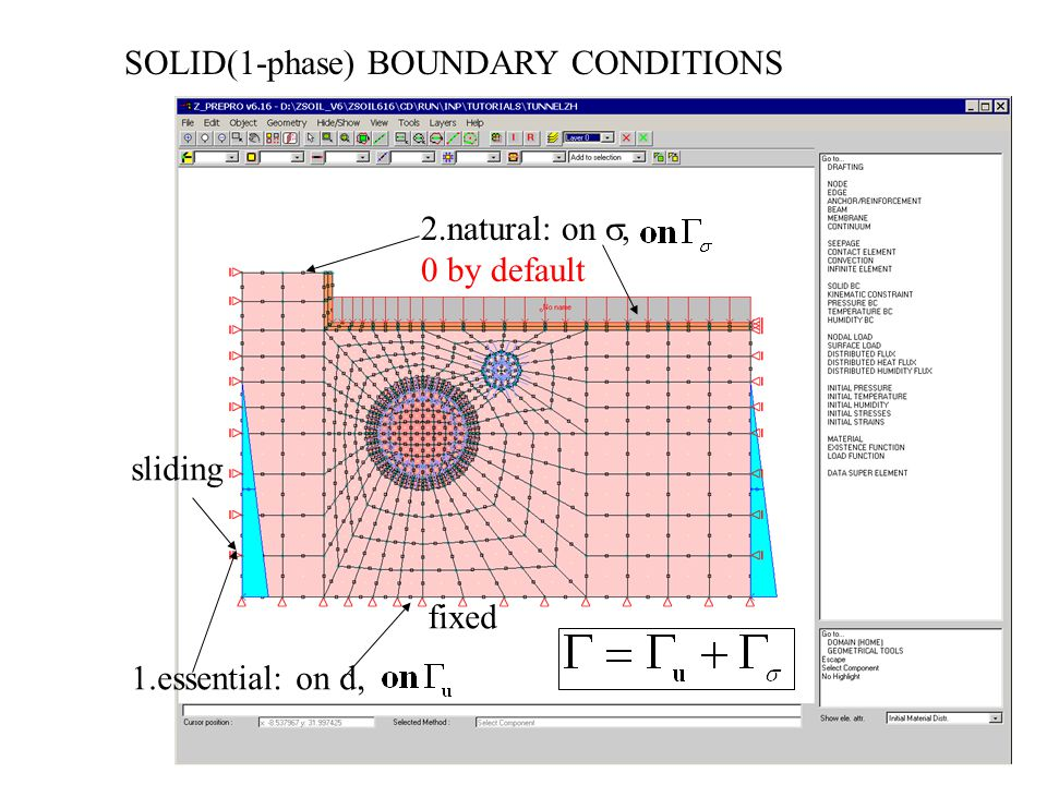 SOLID(1-phase) BOUNDARY CONDITIONS