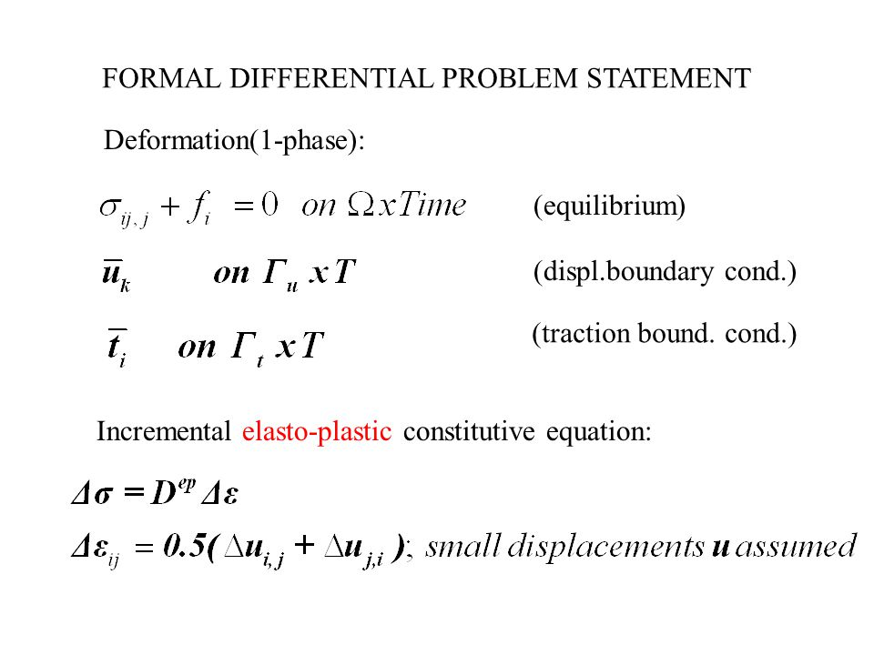 FORMAL DIFFERENTIAL PROBLEM STATEMENT