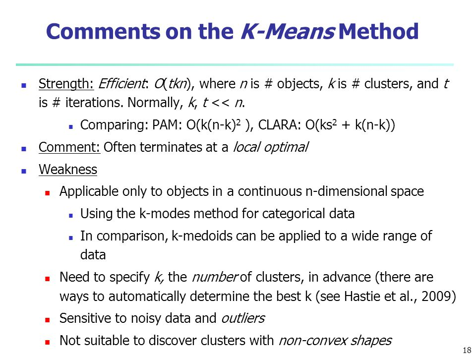 Comments on the K-Means Method