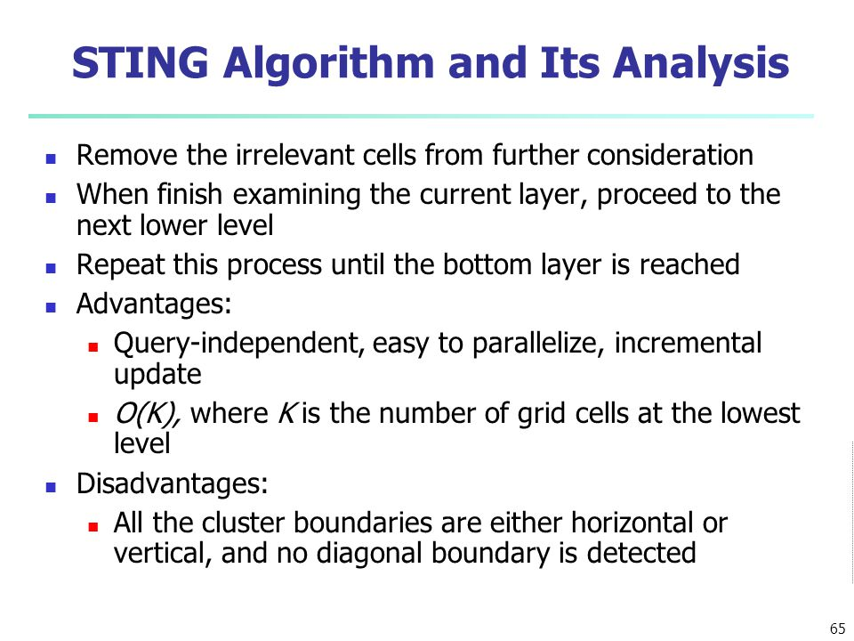 STING Algorithm and Its Analysis