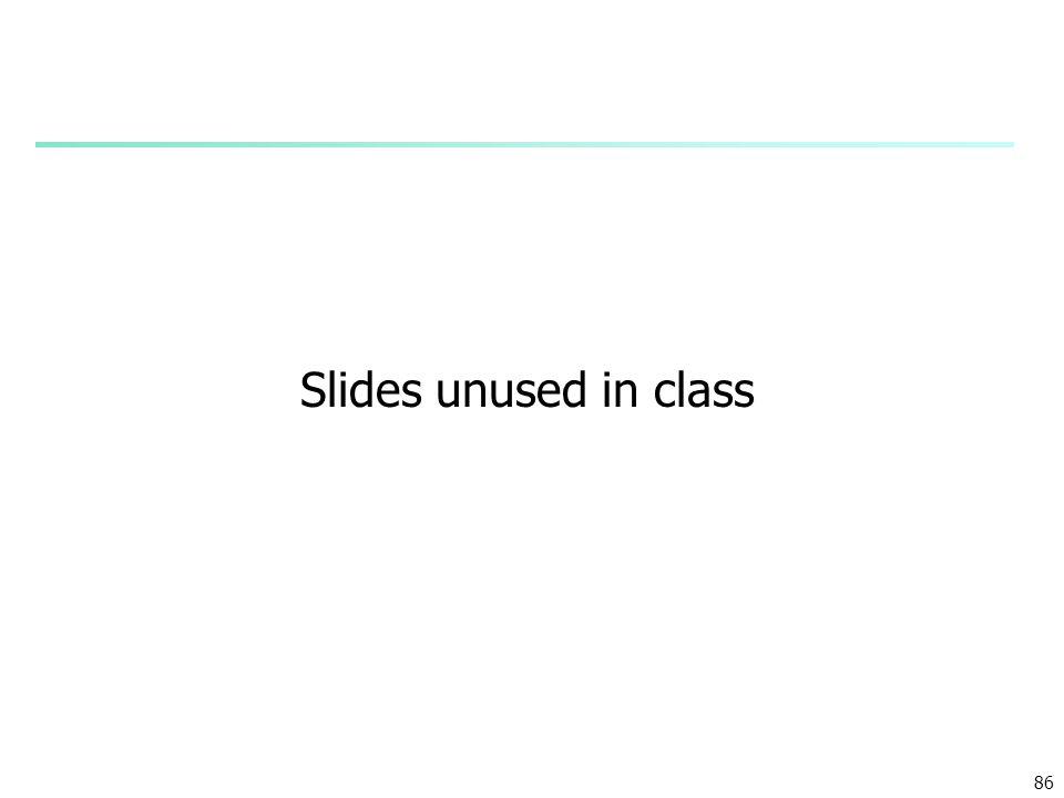 Slides unused in class