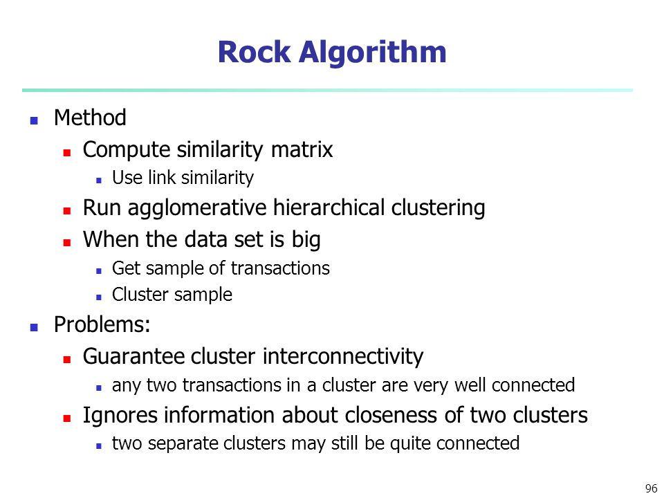 Rock Algorithm Method Compute similarity matrix