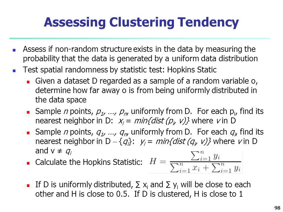 Assessing Clustering Tendency