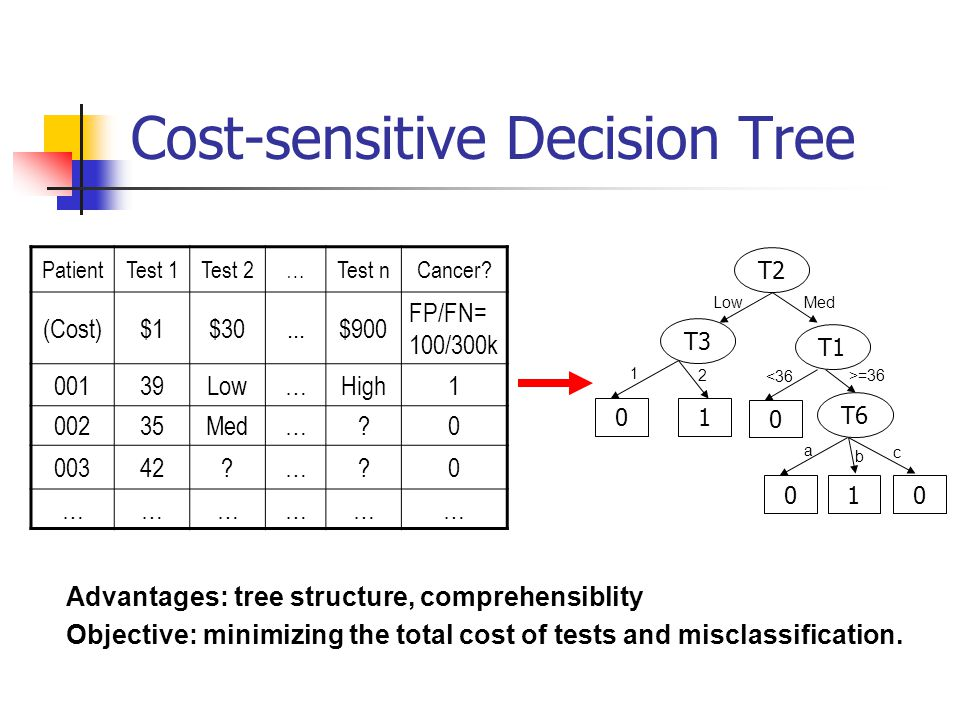 Cost-sensitive Decision Tree
