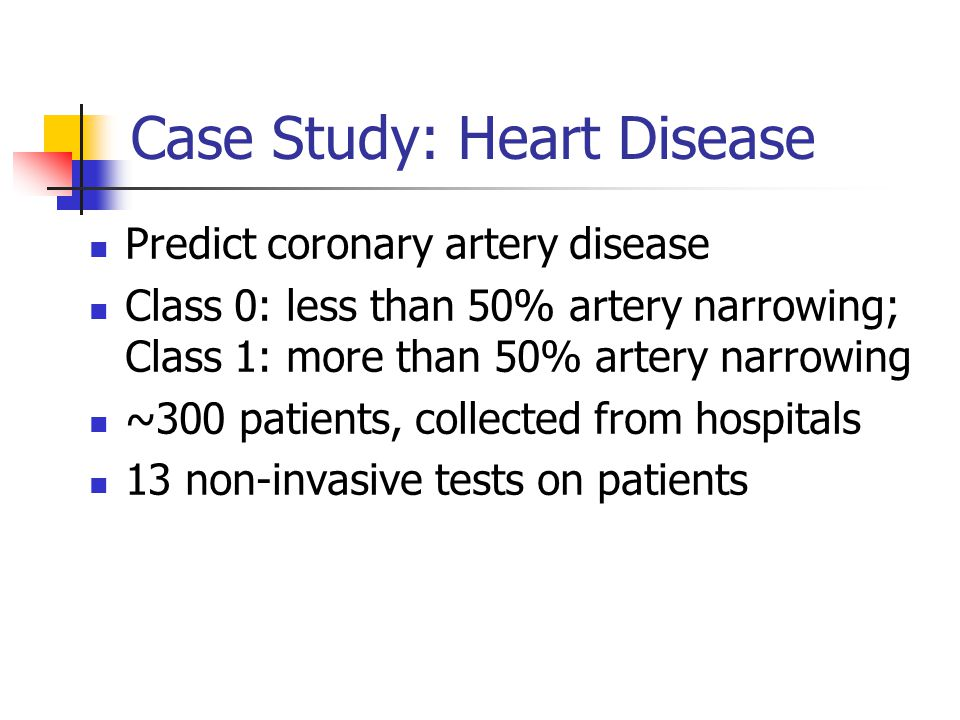 Case Study: Heart Disease