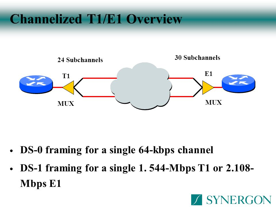 Channelized T1/E1 Overview