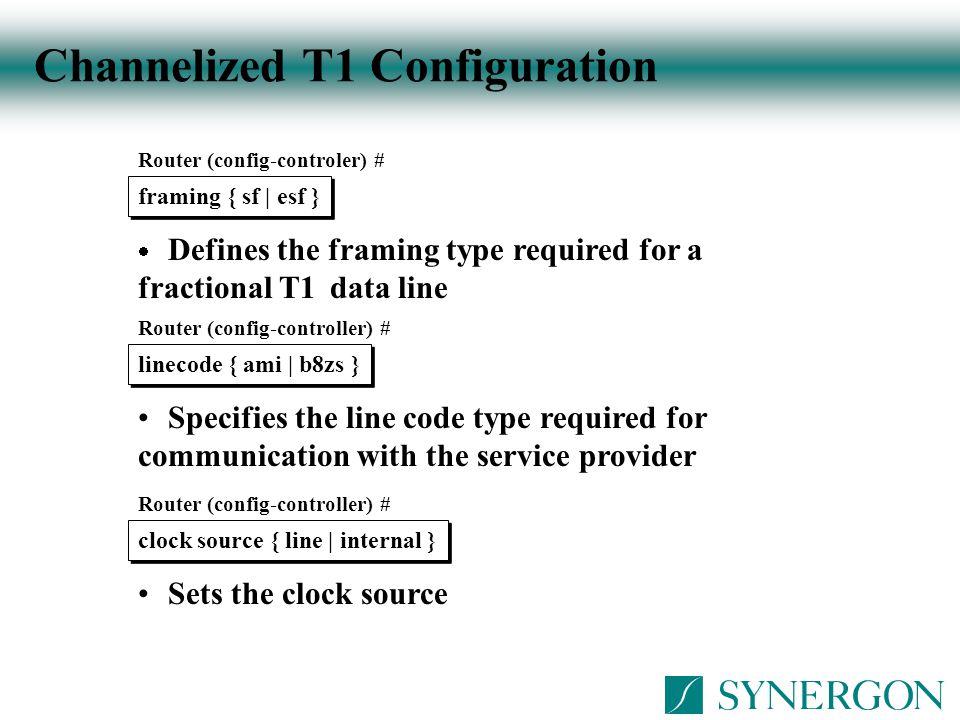 Channelized T1 Configuration