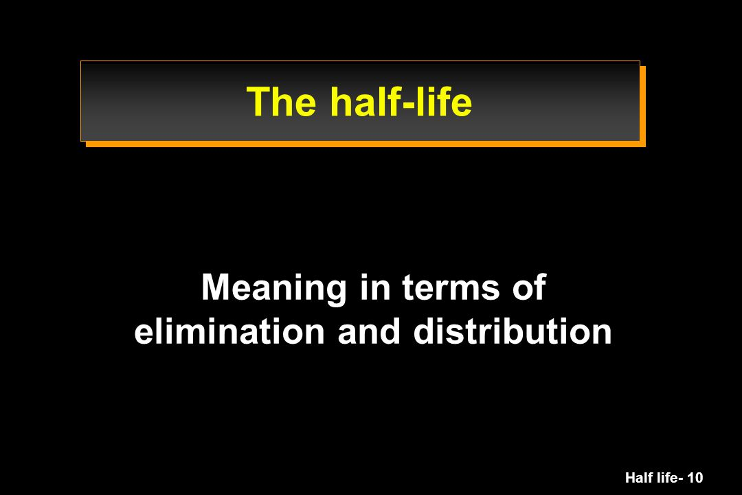 Meaning in terms of elimination and distribution
