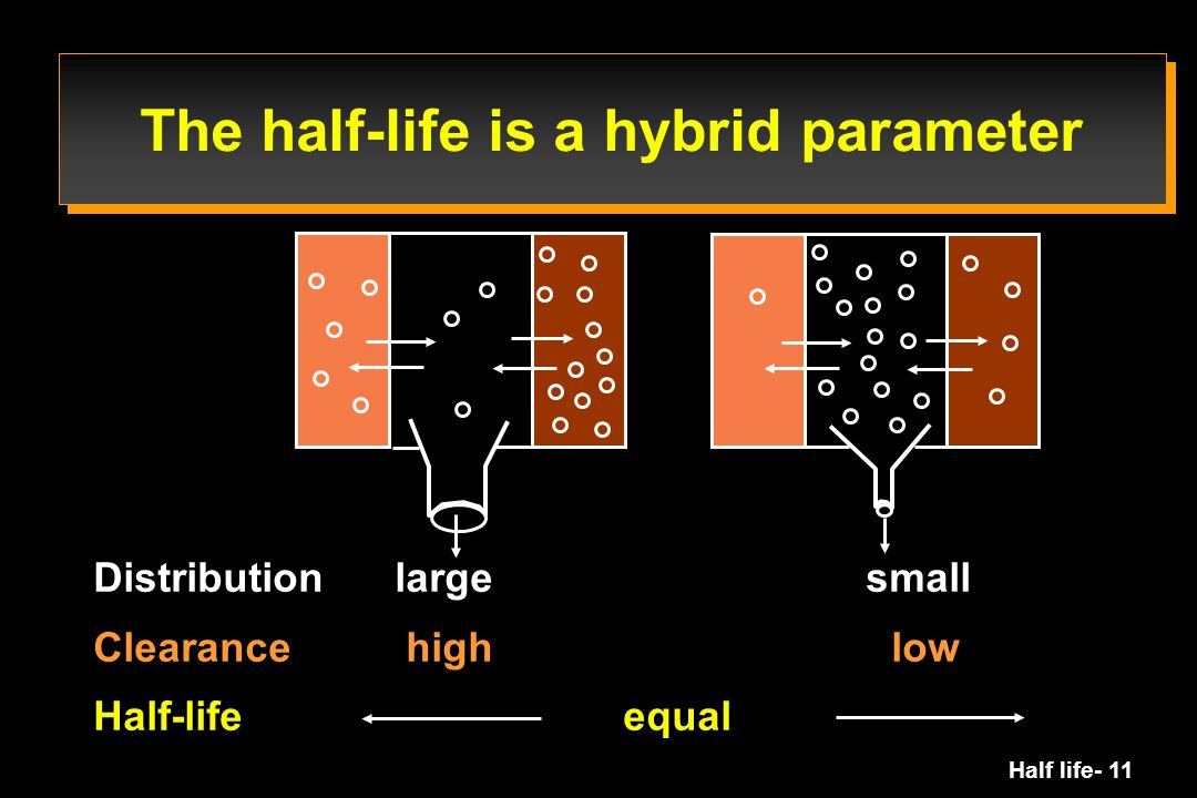 The half-life is a hybrid parameter