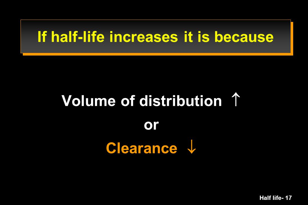 If half-life increases it is because
