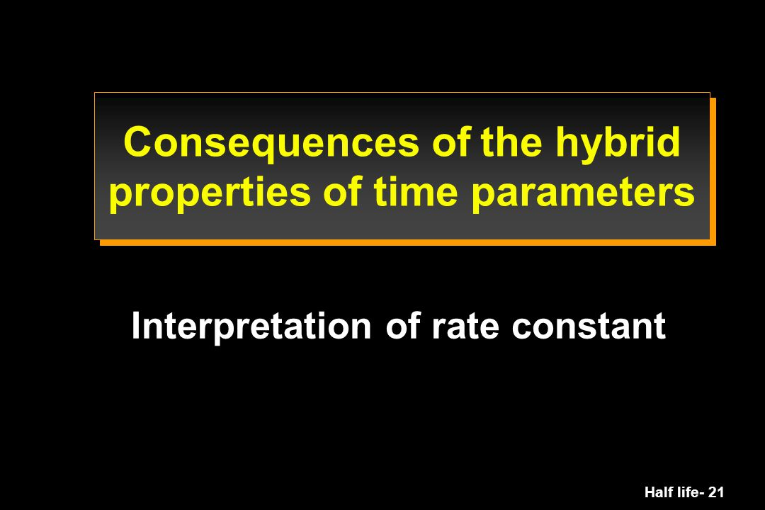 Consequences of the hybrid properties of time parameters