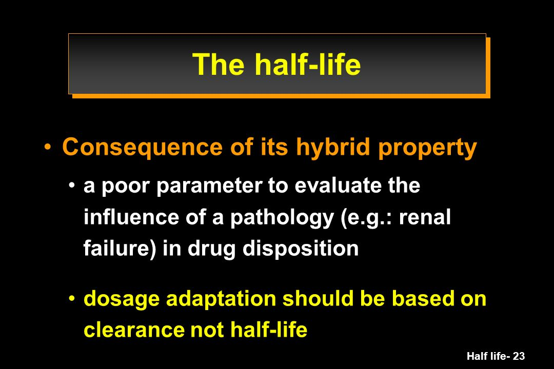 The half-life Consequence of its hybrid property
