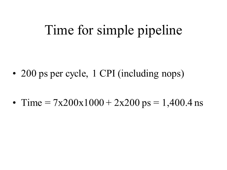 Time for simple pipeline