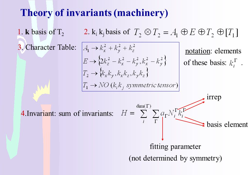 Theory of invariants (machinery)