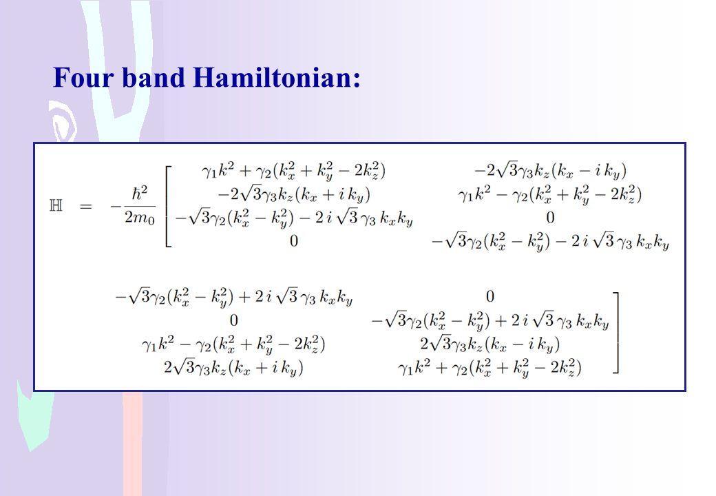 Four band Hamiltonian:
