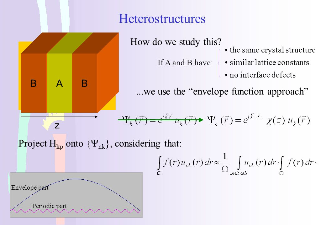 Heterostructures How do we study this B A z
