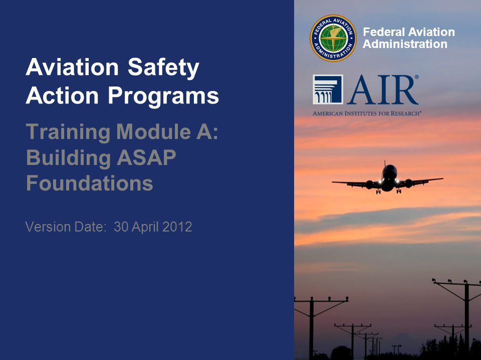 Aviation Safety Action Programs Ppt Download