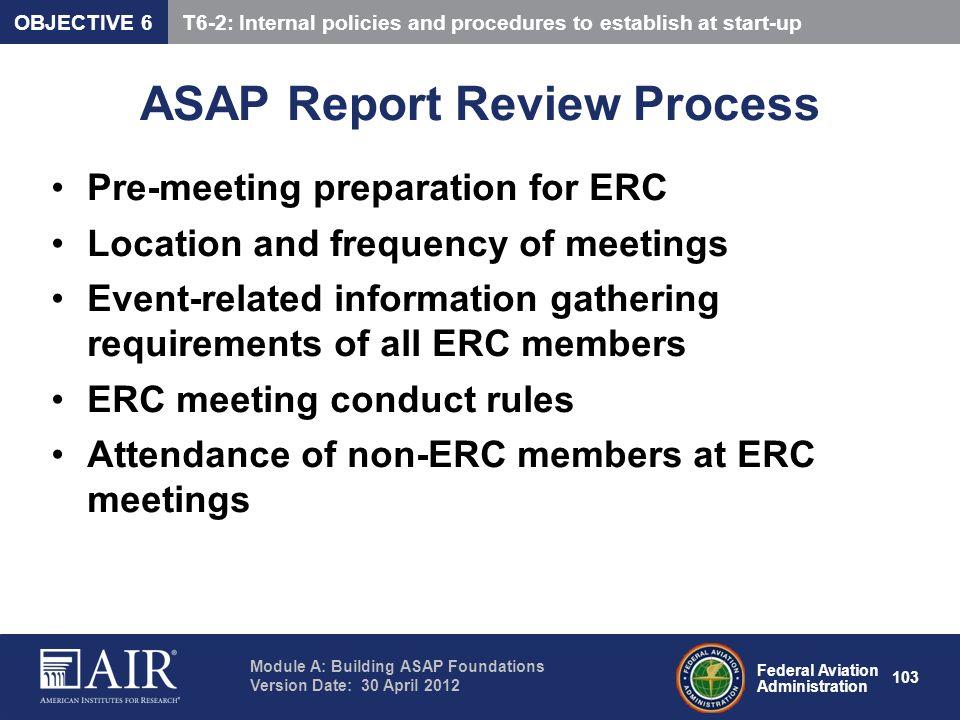 ASAP Report Review Process