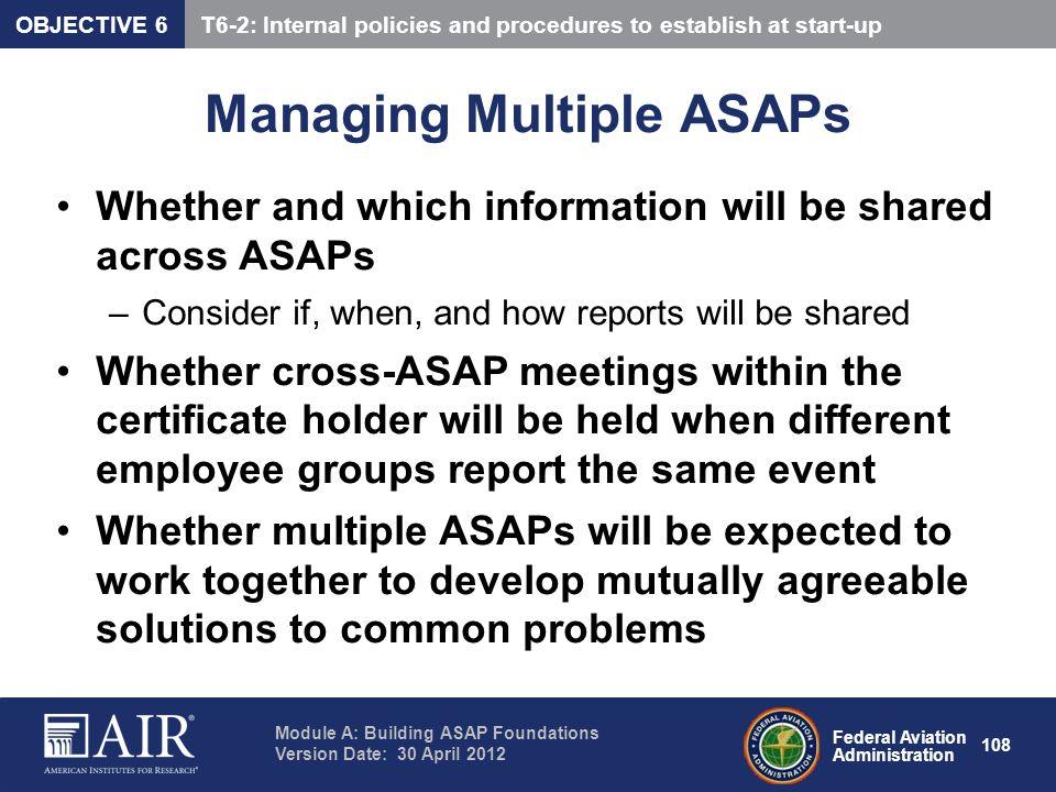 Managing Multiple ASAPs