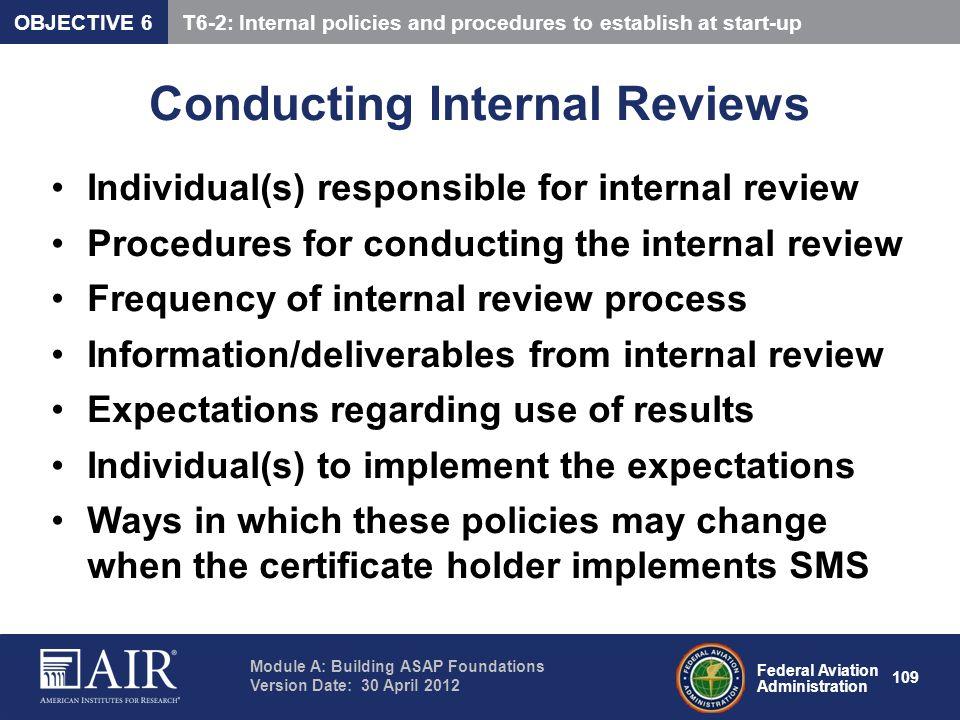 Conducting Internal Reviews
