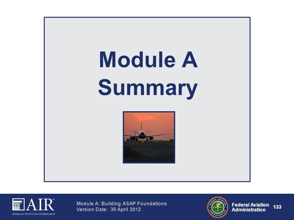 Module A Summary Notes: