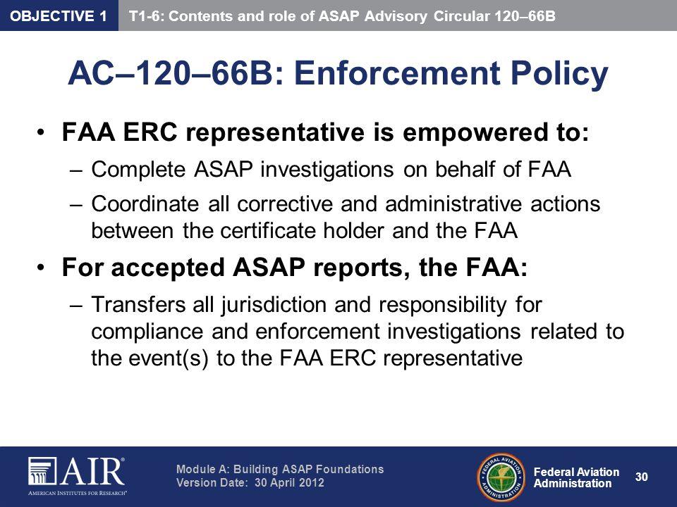 AC–120–66B: Enforcement Policy
