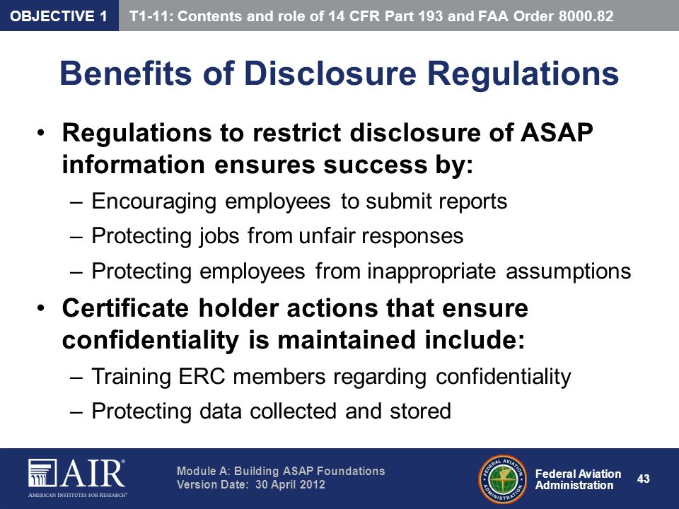Benefits of Disclosure Regulations
