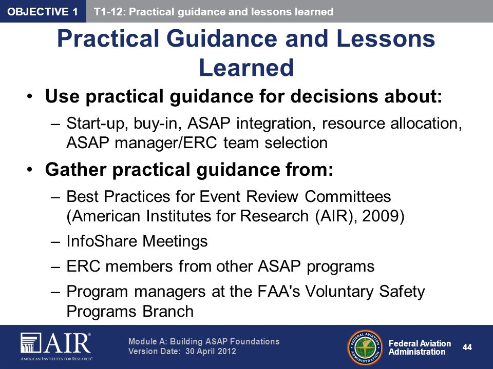 Practical Guidance and Lessons Learned