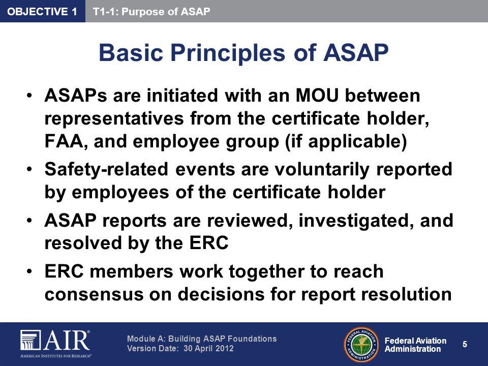 Basic Principles of ASAP