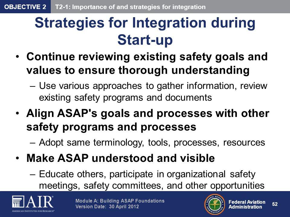 Strategies for Integration during Start-up