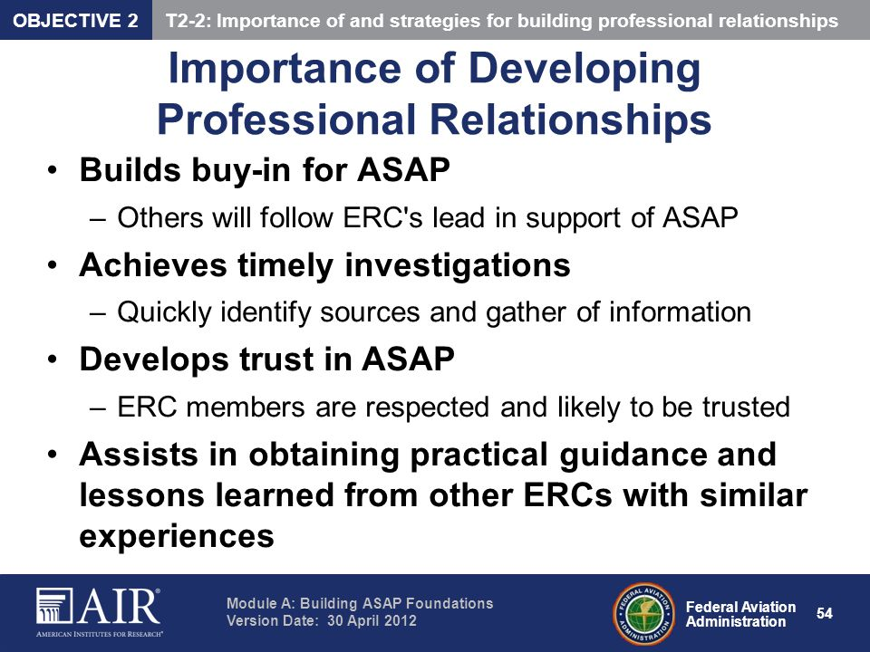 Importance of Developing Professional Relationships
