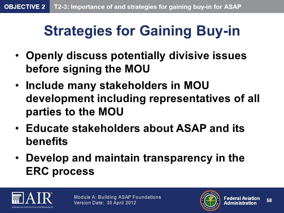 Strategies for Gaining Buy-in