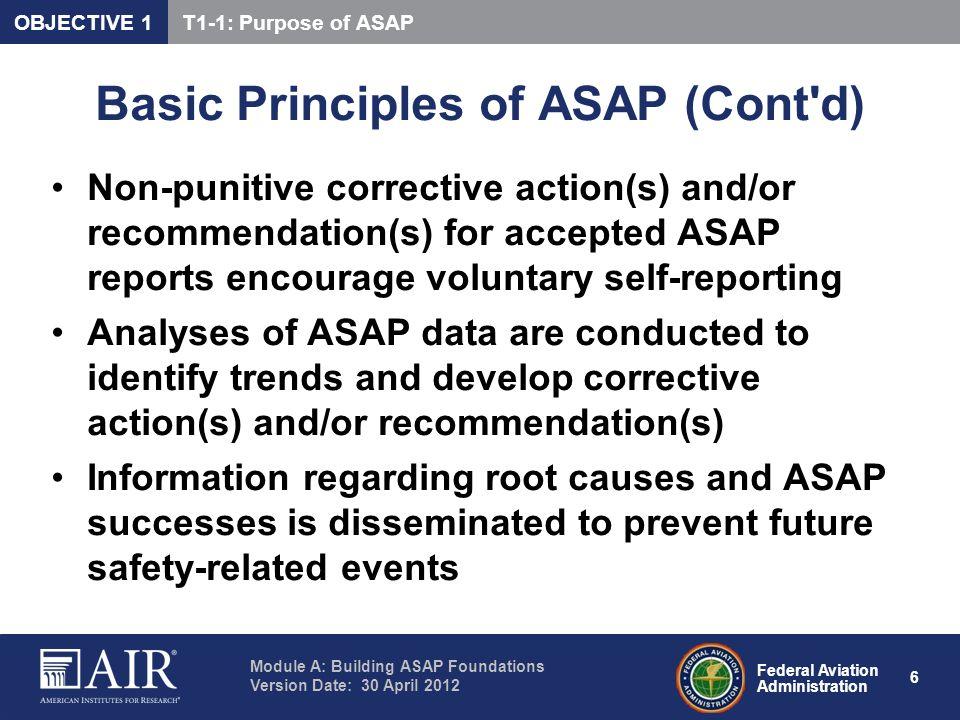 Basic Principles of ASAP (Cont d)