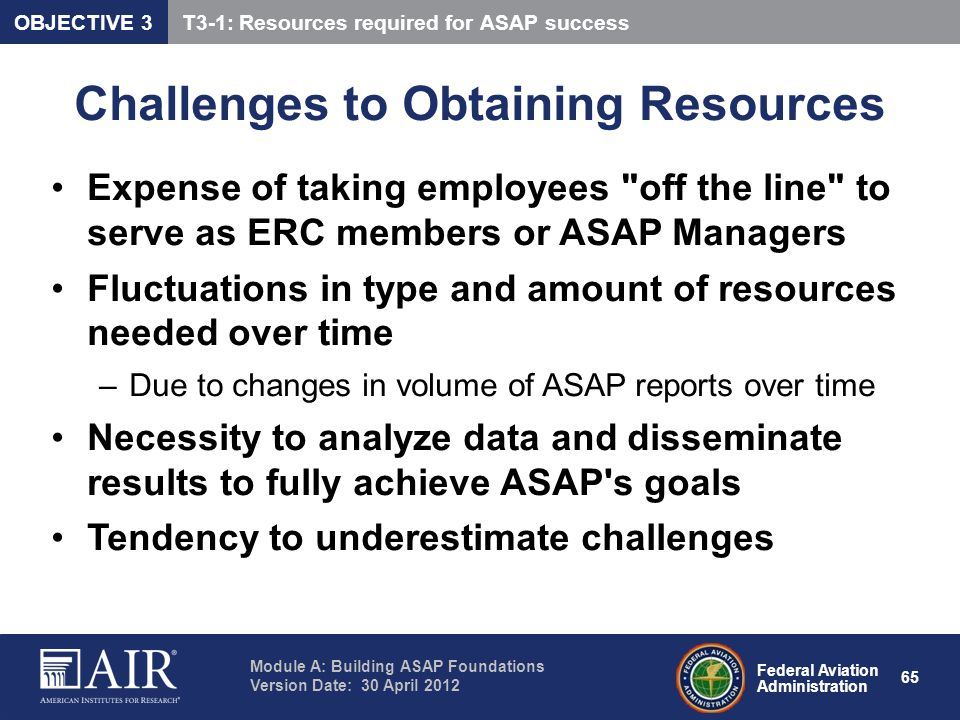 Challenges to Obtaining Resources