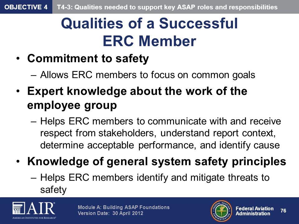 Qualities of a Successful ERC Member