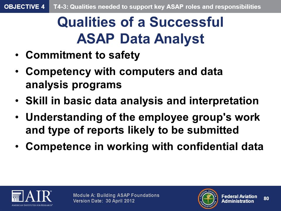 Qualities of a Successful ASAP Data Analyst