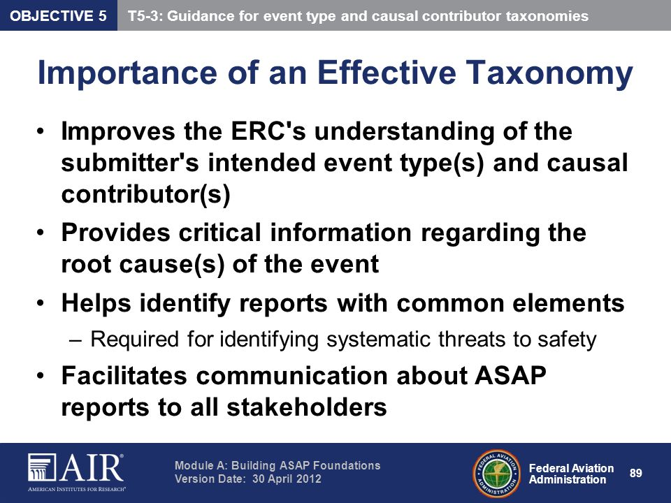 Importance of an Effective Taxonomy
