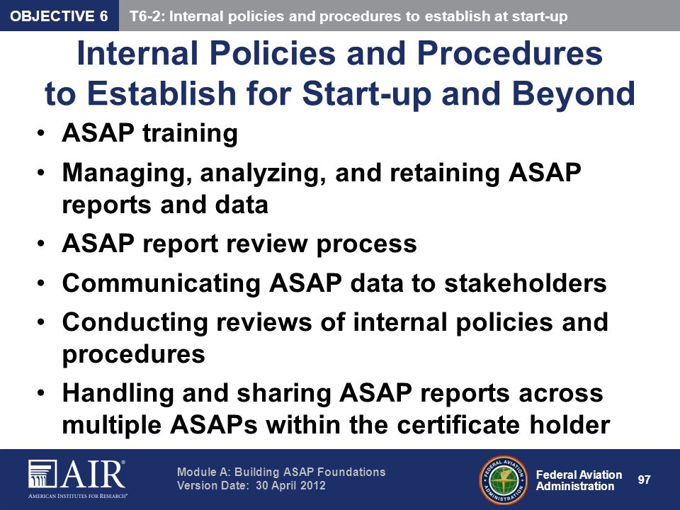 Internal Policies and Procedures to Establish for Start-up and Beyond