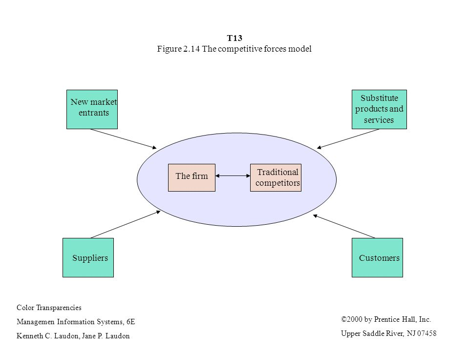 T13 Figure 2.14 The competitive forces model