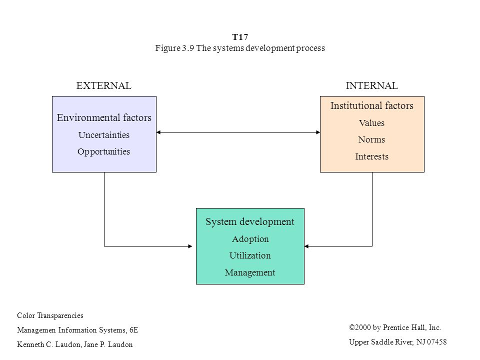 T17 Figure 3.9 The systems development process