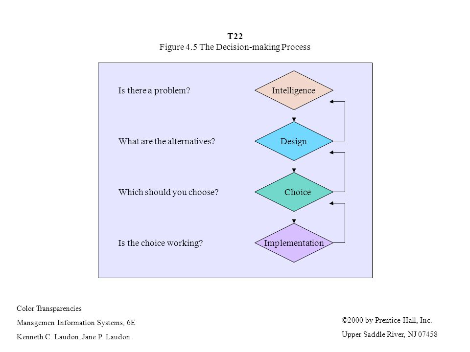 T22 Figure 4.5 The Decision-making Process