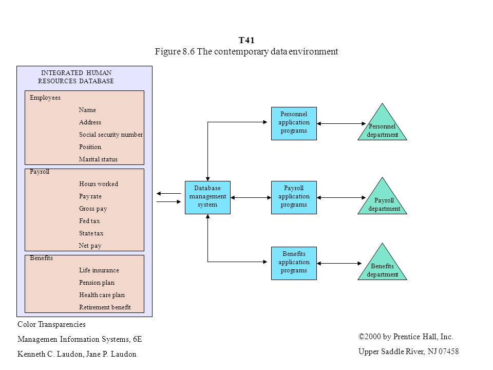 T41 Figure 8.6 The contemporary data environment