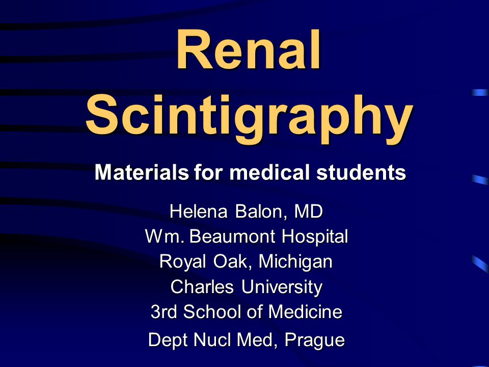 Materials for medical students