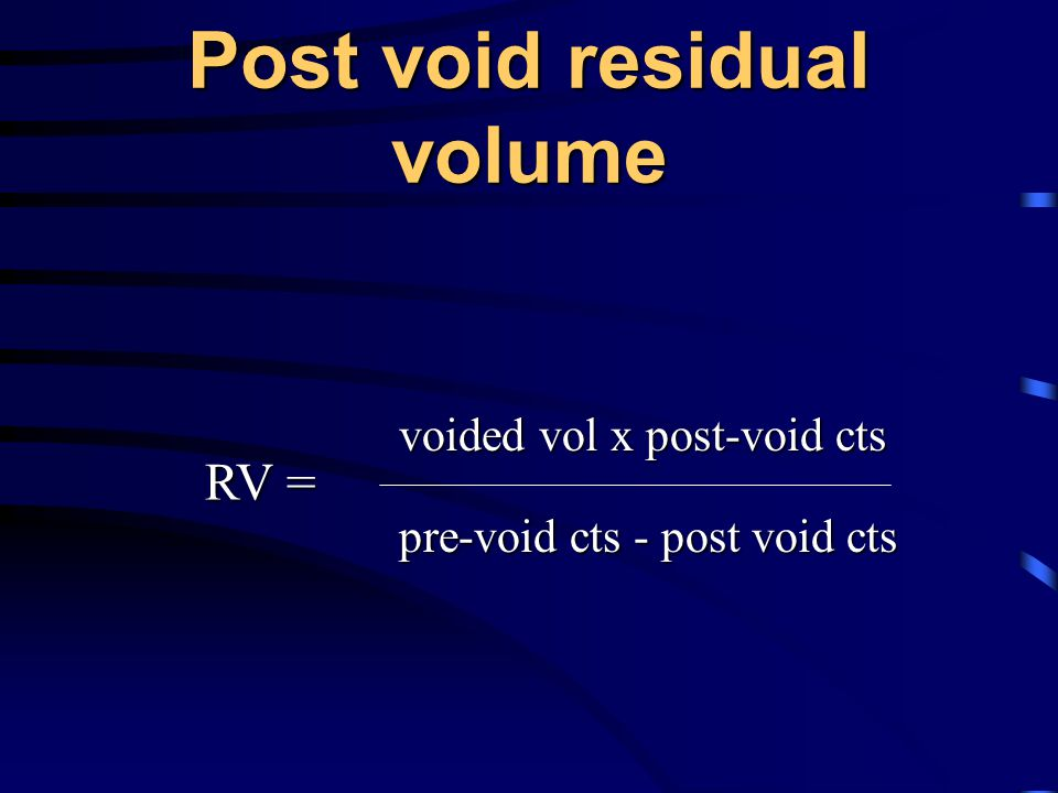Post void residual volume
