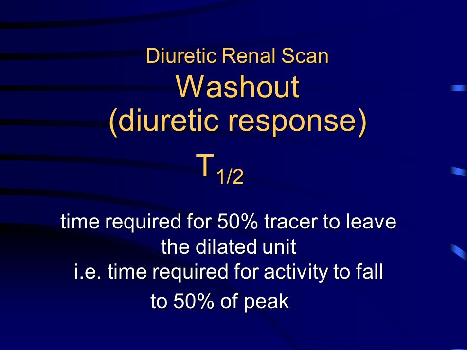 Diuretic Renal Scan Washout (diuretic response)