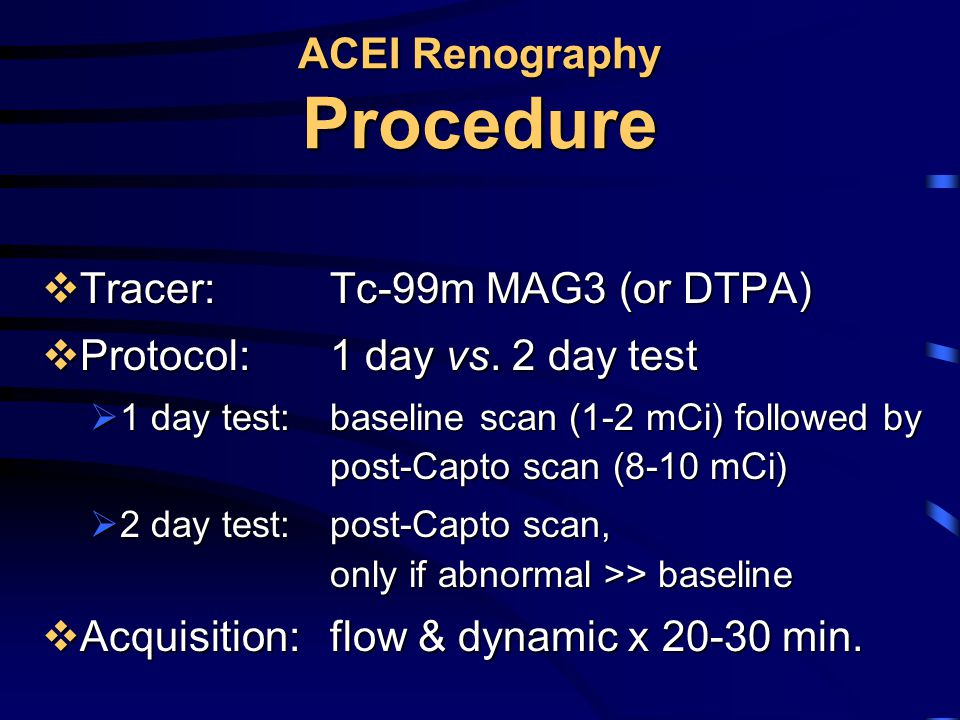 ACEI Renography Procedure