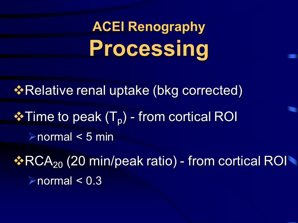 ACEI Renography Processing