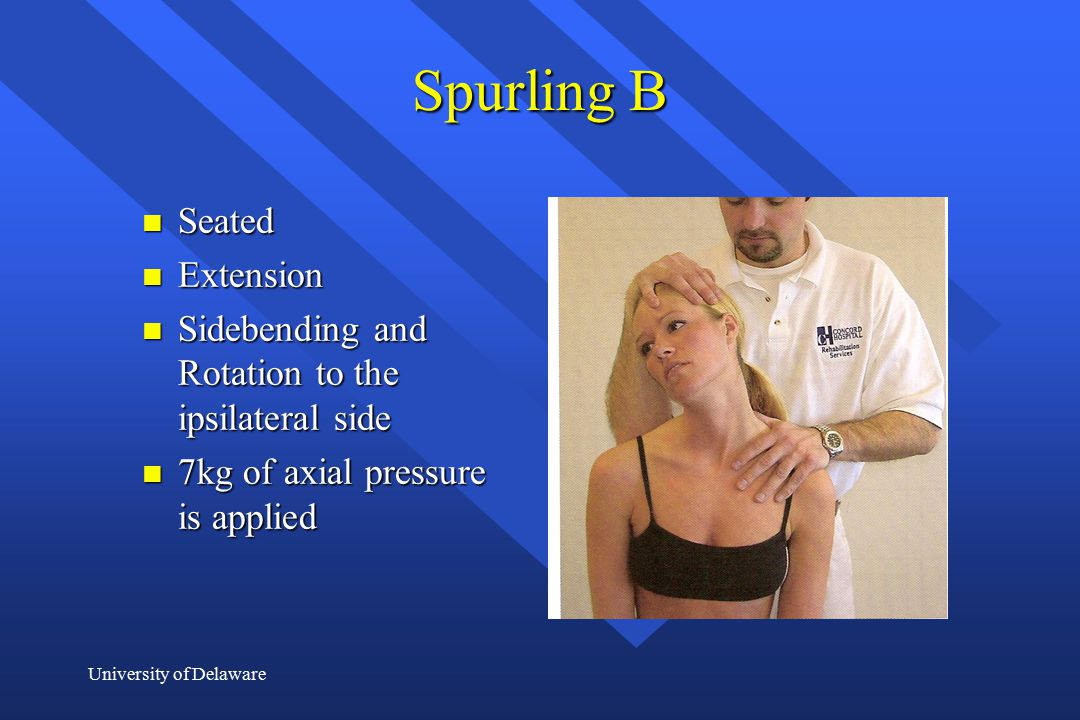 Spurling B Seated Extension