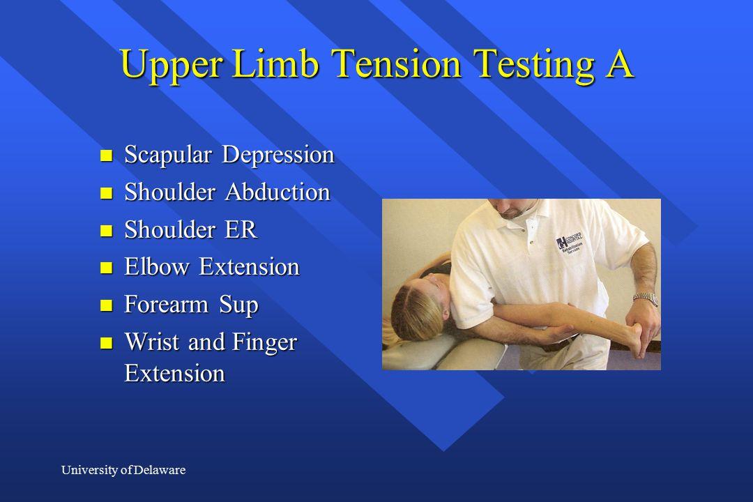 Upper Limb Tension Testing A