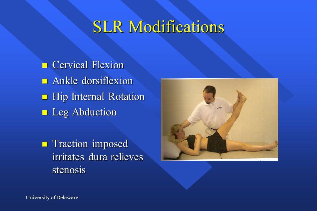SLR Modifications Cervical Flexion Ankle dorsiflexion